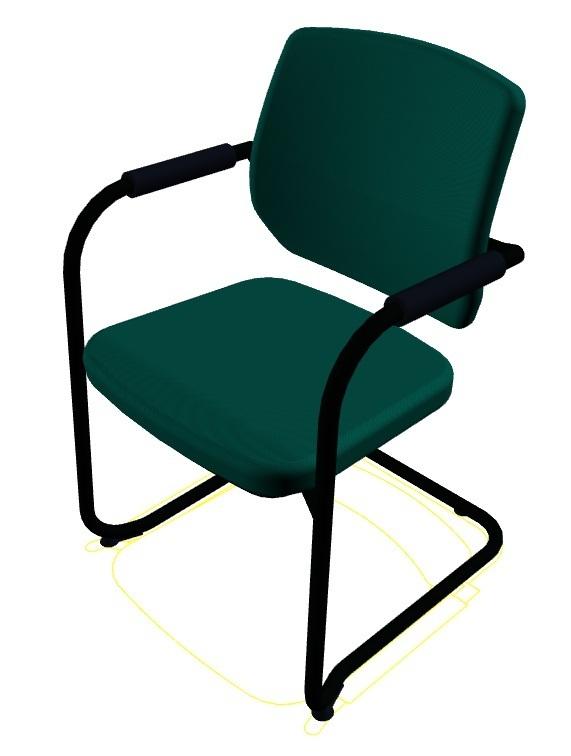 besucherstuhl bionic automatic dauphin b rom bel glaser. Black Bedroom Furniture Sets. Home Design Ideas