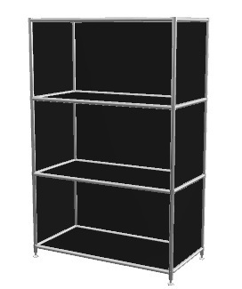 b rom bel glaser viasit breites regal 3 f cher. Black Bedroom Furniture Sets. Home Design Ideas