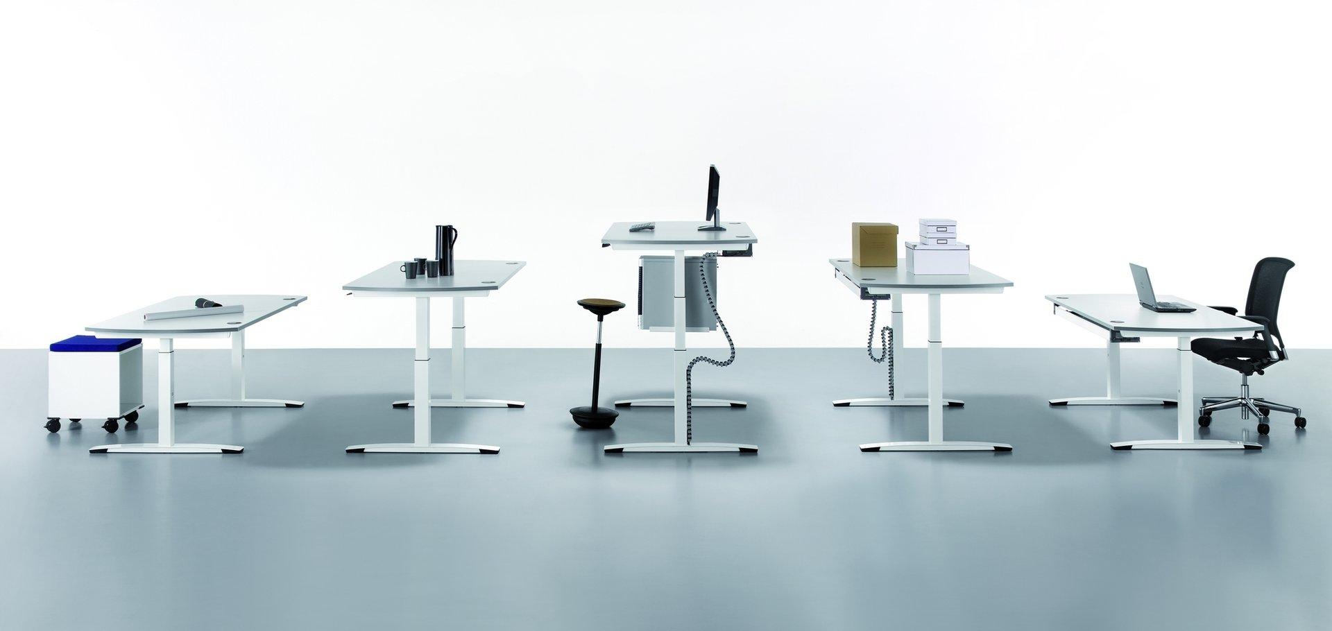 oka schreibtisch h henverstellbar rechteckig b rom bel. Black Bedroom Furniture Sets. Home Design Ideas