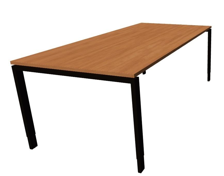 oka tisch birnbaum echtholz furnier rechteck 200 x 80 100cm g nstig b rom bel glaser. Black Bedroom Furniture Sets. Home Design Ideas
