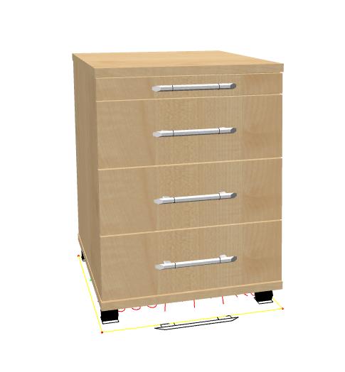 hammerbacher basic rollcontainer mit 4 schubladen g nstig. Black Bedroom Furniture Sets. Home Design Ideas